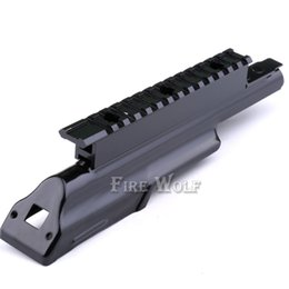Wholesale Ak47 Cover - AK47 Top Receiver Cover Scope Mount Base Dust Cover with Picatinney Top Rail MNT-970A See Through See-Thru AK Rail