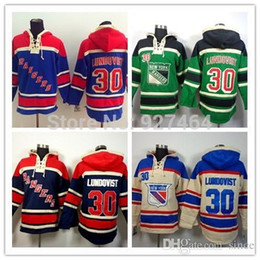 Wholesale Men S Cheap Sweatshirts - 2016 New, Cheap Stitched New York Rangers ice hockey hoodie Men #30 Henrik Lundqvist Jersey Hockey Hoodies Sweatshirts with size:m-xxl