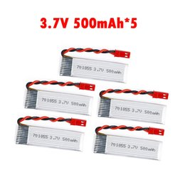 Wholesale Lithium Electric Car Batteries - 5pcs lot Lipo Battery3.7V 500mAh 25C lithium polymer batter with JST Plug For FPV RC Quadcopter Drone UDI U815A JJRC H37 SYMA RC car