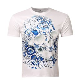 Wholesale Mens Compression Wear - Wholesale- Unisex Mens t Shirts Fashion 2017 Men's Wear 3D Printed Skull t shirt Homme Brand Clothing Funny t Shirts Compression Shirt