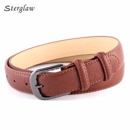 Wholesale Boys Leather Jeans - Wholesale- High quality black wide Belts for women Jeans for boys 2017 new retro casual ladies' belts female lacquer ceinture homme N004