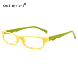 Wholesale Plastic Temples - Wholesale- The Latest Stylish Women Eyglasses Frames Plastic Rectangle Full-Rim Frame With Wave Shaped Temple Arms For women In Dual Colo