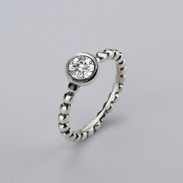 Wholesale Pandora Bow - wholesale new Fine jewelry 925 Silver Rings with Women Wedding & Party Clear Fashion Rings CZ Bow Ring Fit Pandora woman ring
