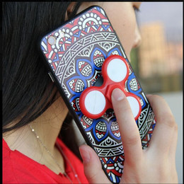 2019 copertura del filatore Custodia a mano Spinner Case Fidget 2 in1 Spinner Custodia Cover per iPhone 7 Plus 6 6S Plus Samsung S8 copertura del filatore economici