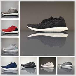 Wholesale Dark Red Matte - Parley X Ultra Boost Uncaged Real Boost Running Shoes Triple Black White Khaki Matte Grey Top Quality Sports Shoes Sneakers Men Women Shoes