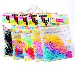 Wholesale Strong Elastic String - Korean TPU band elastic string children hair rope strong pull ring bag 200pcs bag