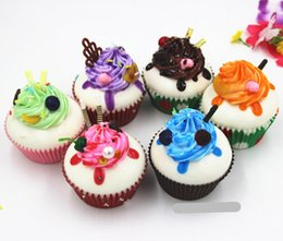 Wholesale Ice Cream Paper Cups Wholesale - Cream imitation paper cup Slow Rising Squishy Rainbow sweetmeats ice cream cake bread Strawberry Bread Charm Phone Straps Soft Fruit