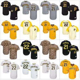 Wholesale Pittsburgh Pirates Authentic Jersey - Flexbase Authentic Collection Men Pittsburgh Pirates Jersey 22 Andrew McCutchen 21 Roberto Clemente 24 Barry Bonds baseball jerseys Stitched