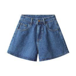 Wholesale Woman Korean Short Pants - High waist shorts jeans women summer ordinary jeans Korean style wide leg pants students summer pants