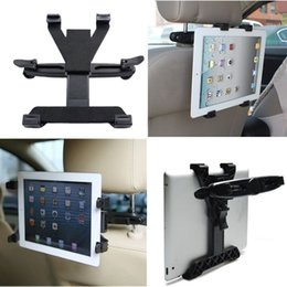 Wholesale Headrest Mount For Tablet - Wholesale-Universal Car Back Seat Headrest Mount Holder For iPad 2 3 4 Air 5 6 ipad mini 1 2 3 GPS  TV Tablet SAMSUNG Tablet PC Stands