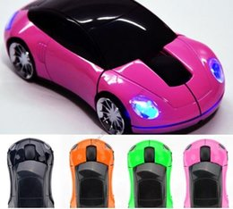 Wholesale Shaped Usb - 3D Wireless Optical 2.4G Car Shaped Mouse Mice 1600DPI USB For PC laptop XP WIN7