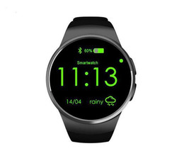 Wholesale Intelligent Control Systems - KW18 heart rate monitoring, fashion circle screen Bluetooth smart plug cartoon words dual system watch intelligent positioning Sports Watch