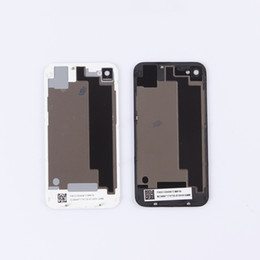 Wholesale Glass Panels For Doors - Battery Cover For iPhone 4G 4S Housing Door Rear Panel Plate Glass Housing Cover Replacement Back Cover Battery Housing Case