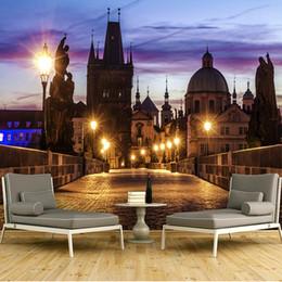 Foto della città di notte online-Dimensioni personalizzate Foto 3D Wallpaper Esterni di grandi dimensioni City Night View 3D Visual TV Sfondo Decorazione murale Decorazioni per la casa