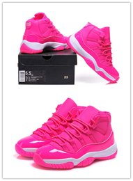 Wholesale Cheap Stretched Canvases - With Box Wholesale Air Retro 11 Pink High Cut Womens Basketball Shoes High Quality Womens Sports Shoes Cheap Eur Size 36-40 Free Shipping