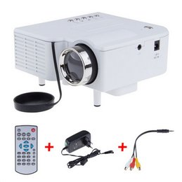Wholesale Multimedia Player Hdmi Input - Wholesale-UC28 Mini LED Digital Video Game Projectors Multimedia player Inputs AV VGA USB SD HDMI proyector Built-in Speaker