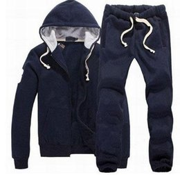 Wholesale Ankle Length Men S Coat - Sweatshirts Mens Polo Tracksuits Winter Jogging Sportsuits Fashion Running Sportswear Big Horse Hoodies Trousers Coats Pants Jackets S-XXL