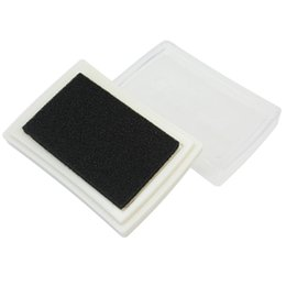 Wholesale Wholesale Stamp Ink Pads - Wholesale- Baby Safe Black Ink Pad Inkpad For Children Stamps Paper Wood Card-making Craft DIY