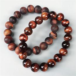 Wholesale Red Tiger Eye Bracelet - 10mm red tiger eye beads bracelet,Elastic bracelet ,gemstone bracelet ,bead bracelet,matte or polished stone beads