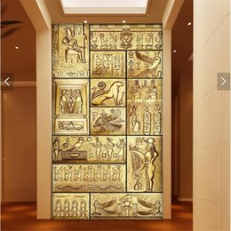 Wholesale Paper Wall Paintings - Wholesale-wall paper 3d art mural HD beauty of ancient Egyptian culture covering Home Decor Modern Wall Painting For Living Room wallpaper