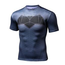 Wholesale Supermen T Shirt - Superman series quick - drying short - sleeved sports fitness running T - shirt