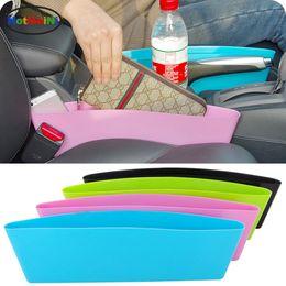 Wholesale Cars Caddy - Car Storage Bag Box Vinyl Car Seat Pocket Organizer Caddy Catcher Space Store Leak-Proof Stowing Tidying Gap Slit Pocket Holder