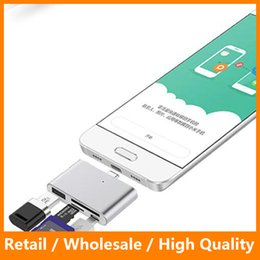 Wholesale Sd Adapter For Macbook - Type C OTG Gard Reader Multi Function Card Reader TF SD MS Adapter for OTG Phone Macbook Type C HUB
