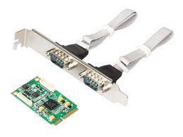 Wholesale Pcie Port Serial Card - MINI PCI-E to 2 port RS422 485 industrial serial port card MINI PCIE TO 422 IO-mPCE352A-2S