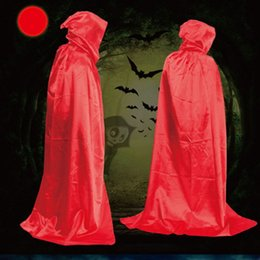 Wholesale Death Costumes - Halloween Cosplay Cloak Halloween Dress up Masquerade Costumes Prop Cloaks Mantle Adult Hooded Cape Decoration Sorcerer Death