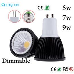 2019 cob ampoule 5w Livraison gratuite 5W 7W 9W COB LED Ampoule E27 GU10 MR16 LED dimmable Lampe Lumière Noir Shell AC110 220V 12v COB LED Spotlight lumières lampe 60angle cob ampoule 5w pas cher