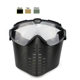 Canada Équipement de plein air Airsoft Paintball Tir Visage Protection Vitesse Full Face Tactique PC Lentille Masque De Paintball avec Ventilateur Offre