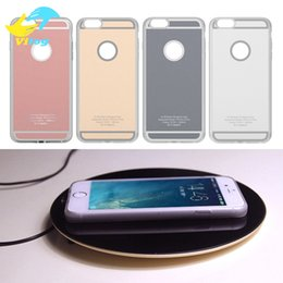 Wholesale 5s Inch - 2018 Qi Standard Wireless Charger Receiver case for Iphone 5 5s SE 6 6s 7 plus for Apple iPhone 4.7 5.5 inch Cover