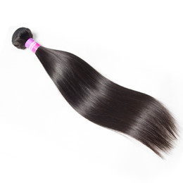 Wholesale Straight Brazilian Hair One Bundle - Brazilian Virgin Hair Straight One Bundle Rosa Hair Products Peruvian Human Hair Extensions 100g Bundle Straight Weft Free Shipping