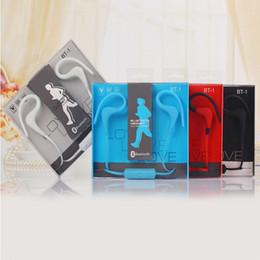 Wholesale Style Ear Headphone - New BT-1 Sport Bluetooth Ear Hook Style Earphone In-ear 3.5mm jack Univeral Wireless Headphone For iPhone 6 7 Samsung S6 S7 edge