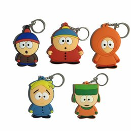 hot anime girl figures Promo Codes - Hot Sell South Park Toys Anime Keychain Set Stan  Kyle Eric  Kenny Leopard Classic Toys 20pcs Free Shipping