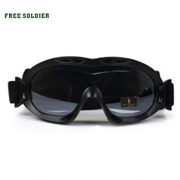 Wholesale Desert Glasses - FREE SOLDIER outdoor hiking camping riding sport desert scorpion ski goggles anti-wind dust glasses tactical glasses