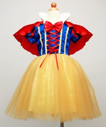 Wholesale Snow White Dresses For Children - Children Snow White Costume Fancy Princess Dress New Year Halloween Christmas Costumes For Kids Party Dresses