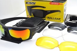 Wholesale Ess Sunglasses - ESS Rollbar Terrian Ballistic Sunglasses, Polarized 4 Lenses Military Goggles with Original Case, Tactical Army Eyeshie Not Ess Crossbow ICE