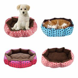 Wholesale Cotton Cat Houses - Super Cute Soft Cat Bed Winter House for Cat Warm Cotton Dog Pet Products Mini Puppy Pet Dog Bed Soft Comfortable Pet Sofa #H008