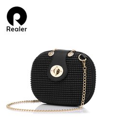 Wholesale Sky Saddle - Wholesale-REALER brand handbag women evening clutch bags female small chain shoulder messenger bags PU leather party handbag