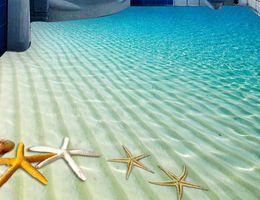 murais de azulejos Desconto 3d papel de parede estereoscópico personalizado 3d piso foto papel de parede murais praia starfish sala papel de parede 3d telhas de assoalho