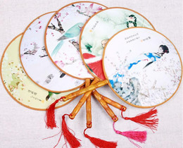Wholesale Decoration Fabric Wholesale China - Summer essential Fine classical palace palace Chinese female retro process bamboo handle fan han dance fan