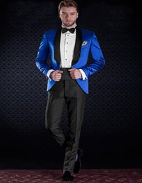 Wholesale Stage Clothes For Men - Wholesale- Fashion Style High Quality Stage Clothes Custom Made Men Suits Shawl Lapel One Button Party Banquet Suits for Men (jacket+pants)