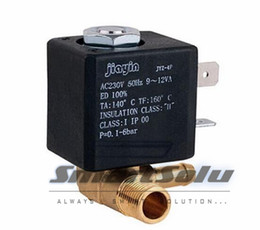 Wholesale Position C - Normally Closed N C AC 230V G1 8' Brass Iron Steam Water 2 Position 2 Way Solenoid Valve