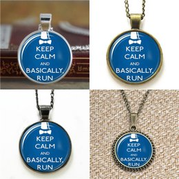 Wholesale Photo Running - 10pcs Doctor Who Basically Run Image Pendant Glass Photo Necklace keyring bookmark cufflink earring bracelet
