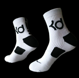 Wholesale Thick Cotton Crew Socks - Mens brand Hot cotton thick bottom towel Deodorant movement male socks high KD elite basketball football soccer sports crew sock terry socks