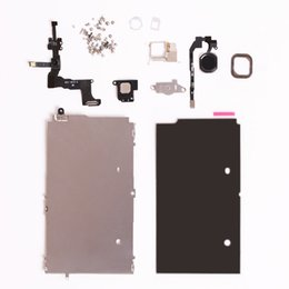 Wholesale touch screen plate - Free By Dhl Full Set Repair Parts For iphone 5S Full LCD Touch Screen Display&Front Camera Ear Speaker Plate home button Screws Assembly