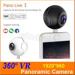 Wholesale Professional Smartphone - Pano Live 1 360 Air Mini Panoramic 360 Camera Dual Angle FishEye Lens Micro USB Type C VR Camera for Andriod Smartphone with retail box 5pcs