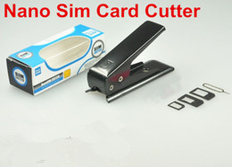 Cortador nano de la tarjeta del sim del envío libre online-Alta calidad Sim Cutter Standared Sim a Nano Sim Card Cutter para iPhone Samsung Nokia Sony LG Motorola Envío gratis