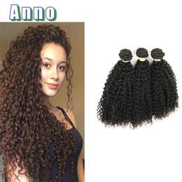 Wholesale Discount Hair Bundles - Discount Brazillian Kinky Curly Hair Products Brazillian Virgin Hair 3 Bundles 6A Curly Weave Human Hair ALLRUN Natural